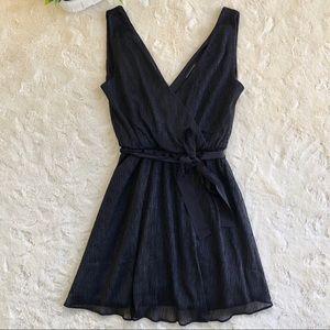 Banana Republic black sparkly mini dress belt